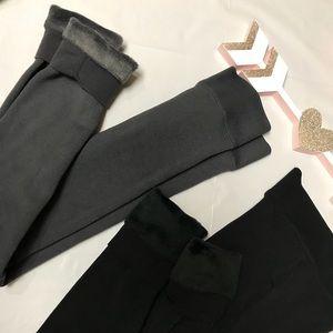 2 Brand New Fleece Lined Tights- Leggings